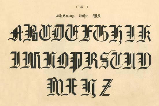 '16th Century. Gothic. MS', 1862-Unknown-Giclee Print