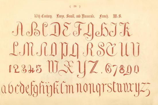 '16th Century. Large, Small and Numerals. French. MS.', 1862-Unknown-Giclee Print