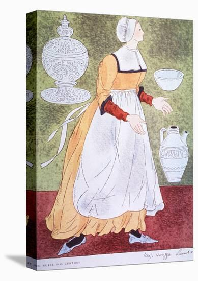 16Th Century Nurse-Warja Honegger-Lavater-Stretched Canvas Print
