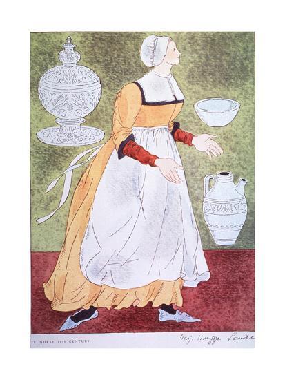 16Th Century Nurse-Warja Honegger-Lavater-Art Print