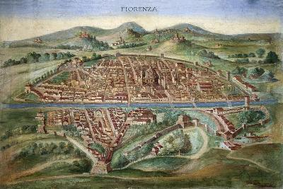 16th Century Plan of Florence-Sheila Terry-Photographic Print
