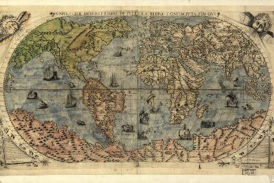 16th Century World Map-Library of Congress-Photographic Print