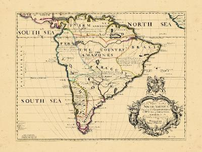 1701, South America--Giclee Print