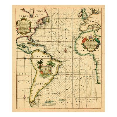 1706-, Africa, Europe, North America, South America--Giclee Print
