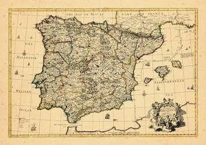 1710, A correct map of Spain and Portugal according to the newest observations