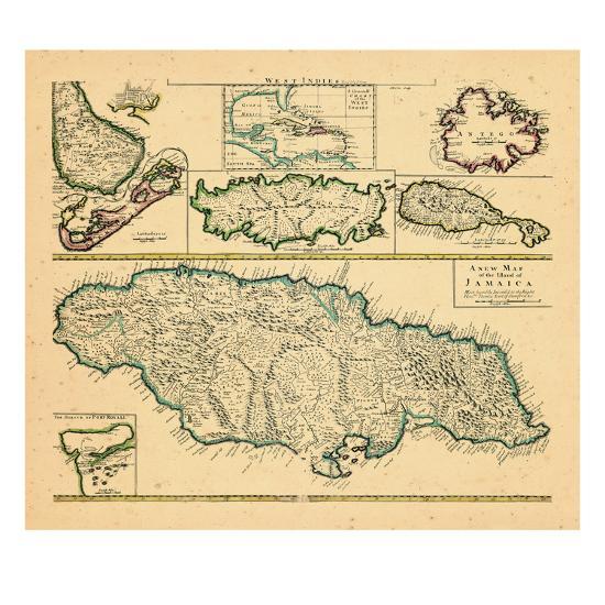 1721, Jamaica, West Indies Giclee Print by   Art.com