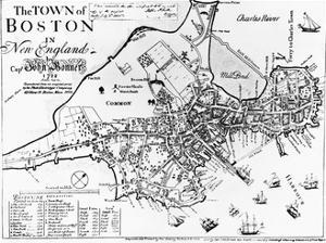 1722 Map of Boston