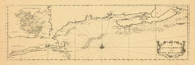 1731, New England, Maine, Massachusetts, New Brunswick, Newfoundland and Labrador, Nova Scotia--Giclee Print