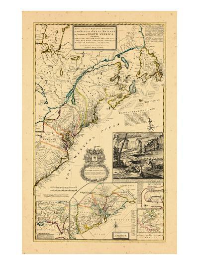 1732, Maryland, New Brunswick, New Jersey, New York, Newfoundland and Labrador, North Carolina--Giclee Print