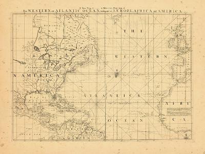 1739, North America, Atlantic Ocean--Giclee Print