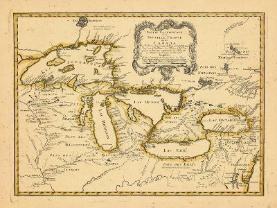 1755, Great Lakes--Giclee Print