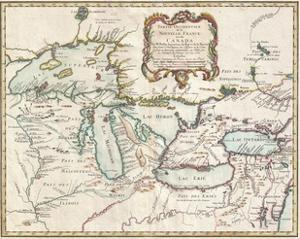 1755 Map of the Great Lakes Region