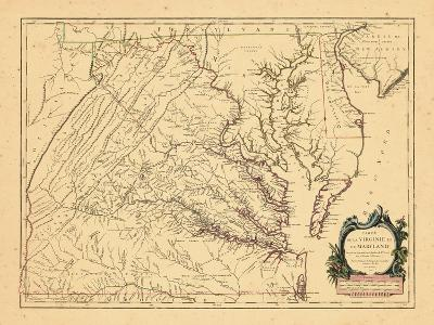 1755, Maryland, Virginia--Giclee Print