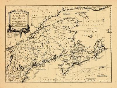 1755, New Brunswick, Massachusetts, Nova Scotia, Maine, Newfoundland and Labrador, New Hampshire--Giclee Print