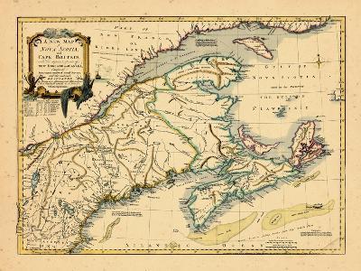 1755, New Brunswick, Nova Scotia, Prince Edward Island, Maine Massachusetts--Giclee Print