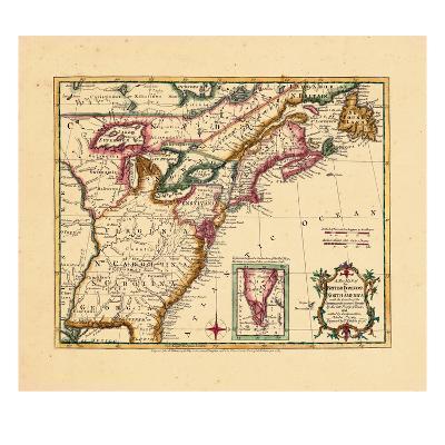 1763, Connecticut, Florida, Georgia, Maine, Massachusetts, New Hampshire, New Jersey, New York--Giclee Print
