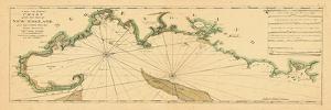 1763, New England Chart, Cape Cod to Casco Bay, Maine, Massachusetts, New Hampshire