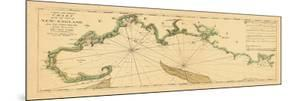 1763, New England Chart, Cape Cod to Casco Bay, Maine, Massachusetts, New Hampshire