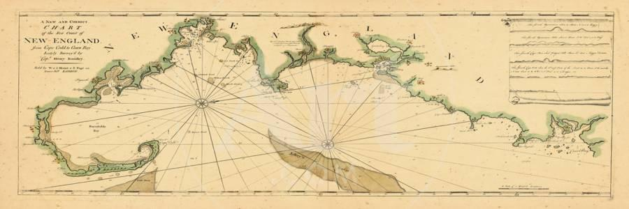 1763, New England Chart, Cape Cod to Casco Bay, Maine, Machusetts, on map of pembroke maine, map of lexington maine, map of penobscot bay maine, map of franklin maine, map of cambridge maine, map of marblehead maine, map of new hampshire maine, map of roxbury maine, map of belmont maine, map of casco bay maine, map of burlington maine, map of falmouth maine, map of provincetown maine, map of deer island maine, map of united states maine, map of boston maine, map of maine and mass, map of topsfield maine, map of beverly maine, map of dayton maine,