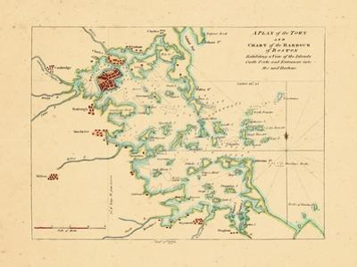 1775, Boston Harbor Chart, Massachusetts