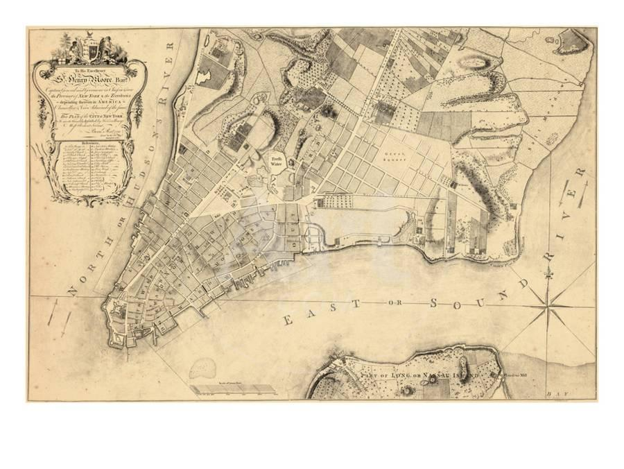Map Of New York 1776.1776 New York City From 1767 Survey New York United States Giclee Print By Art Com