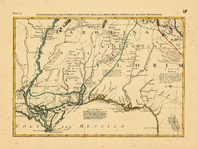 1778, Alabama, Florida, Louisiana, Mississippi, North Carolina--Giclee Print