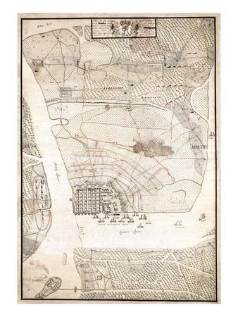photograph about Printable Map of South Carolina titled 1780, Charleston Siege Map, South Carolina, United Claims Giclee Print through