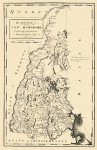 1794, New Hampshire State Map, New Hampshire, United States
