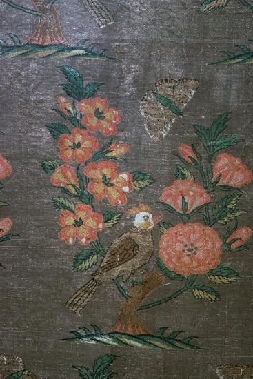 17th century Iranian textile fragment, 17th century. Artist: Unknown-Unknown-Giclee Print