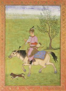 Prince on Horseback by 17th Century Mughal School