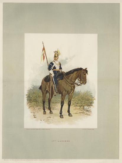 17th Lancers, a Trooper in Review Order-Charles Green-Giclee Print