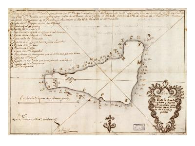 1803 Map of Easter Island--Photo