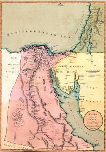 1803 Map of Egypt, with Part of Arabia and Palestine