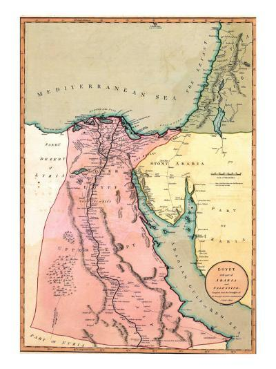 1803 Map of Egypt, with Part of Arabia and Palestine--Photo