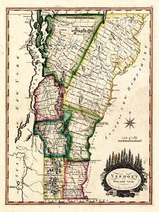 1810s, Vermont State Map, Vermont, United States