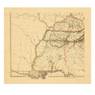 1812, Alabama, Georgia, Kentucky, Louisiana, Mississippi, Tennessee--Giclee Print