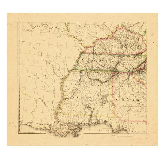 1812 Alabama Georgia Kentucky Louisiana Mississippi Tennessee