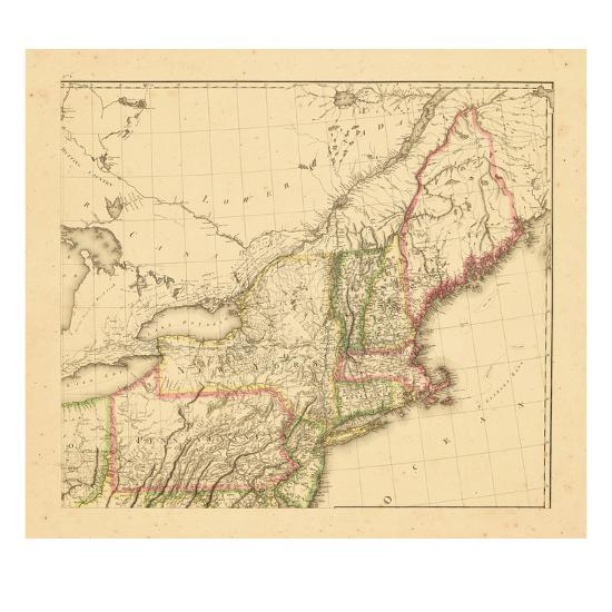 1812, New Hampshire, Massachusetts, Maine, Connecticut, New Jersey, New  York, Pennsylvania, Rhode I Giclee Print by | Art.com