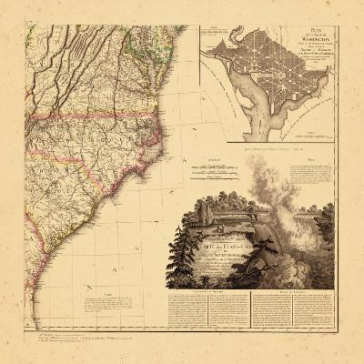 1812, North Carolina, Maryland, South Carolina, Virginia--Giclee Print