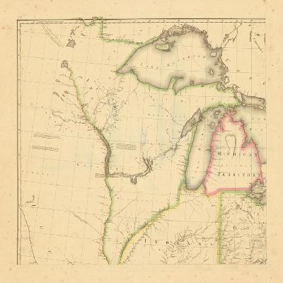 1812, Wisconsin, Ohio, Michigan, Indiana, Illinois--Giclee Print