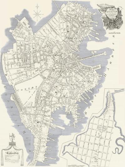1814, Boston J. G. Hale Survey, Massachusetts, United States--Giclee Print