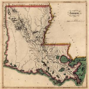1814, Louisiana State Map, Louisiana, United States