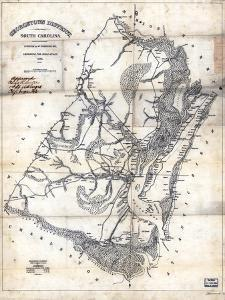 1825, Georgetown District surveyed 1820, South Carolina, United States