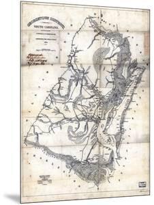 1825, Georgetown District surveyed 1820, South Carolina, United States