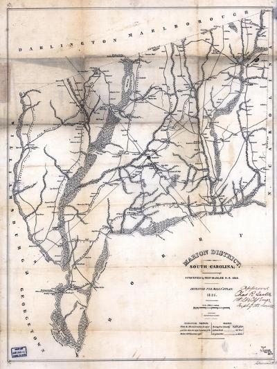 1825, Marion District surveyed 1818, South Carolina, United States--Giclee Print