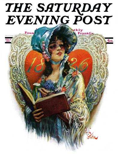 """""""1826 Valentine,"""" Saturday Evening Post Cover, February 13, 1926-Paul Stahr-Giclee Print"""
