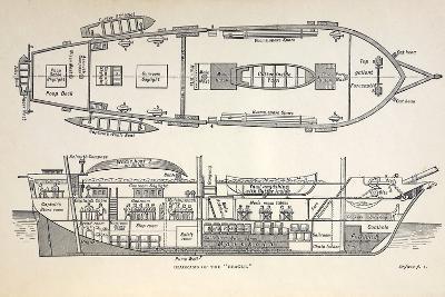 1832 Darwin's Ship HMS Beagle Plan-Paul Stewart-Photographic Print