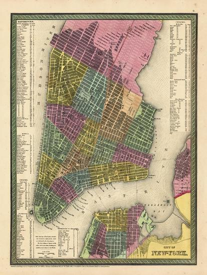 Map Of New York 1850.1850 New York City Battery Parkmap New York United States Giclee Print By Art Com