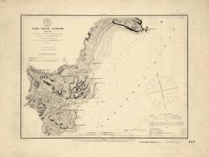 1854, York River Harbor Chart Maine, Maine, United States