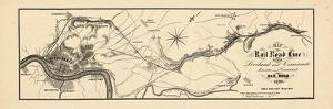 1860, Loveland and Cincinnati Railroad Map, Ohio, United States